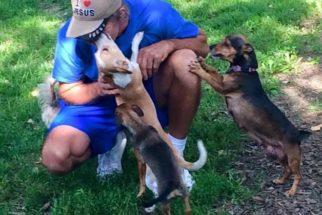 Morador de rua dedica seu tempo para cuidar de cachorros abandonados