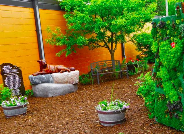 estatua-de-bruno-em-jardim-de-parque-de-longville