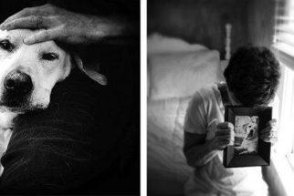 Fotógrafa faz ensaio emocionante para se despedir do seu cão