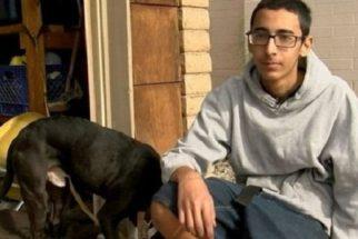 Herói: adolescente enfrenta casa em chamas para salvar seu cão