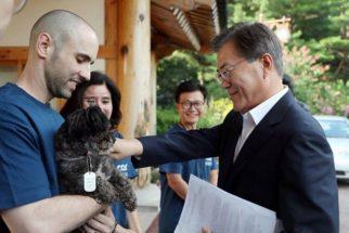 Conheça Tory, o primeiro cão presidencial da Coréia do Sul