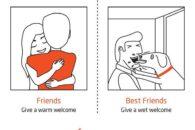 Série de ilustrações mostra porque o cão é o melhor amigo do humano