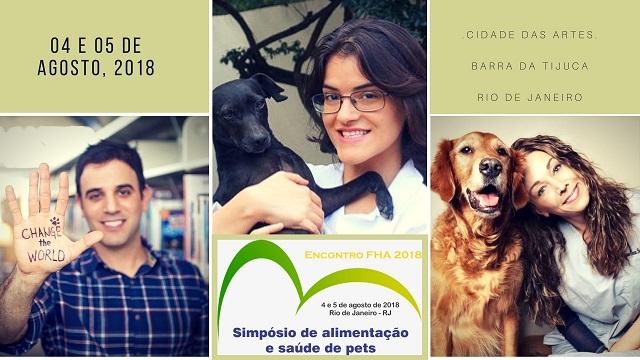 O encontro FHA é voltado para amantes dos pets e profissionais da área